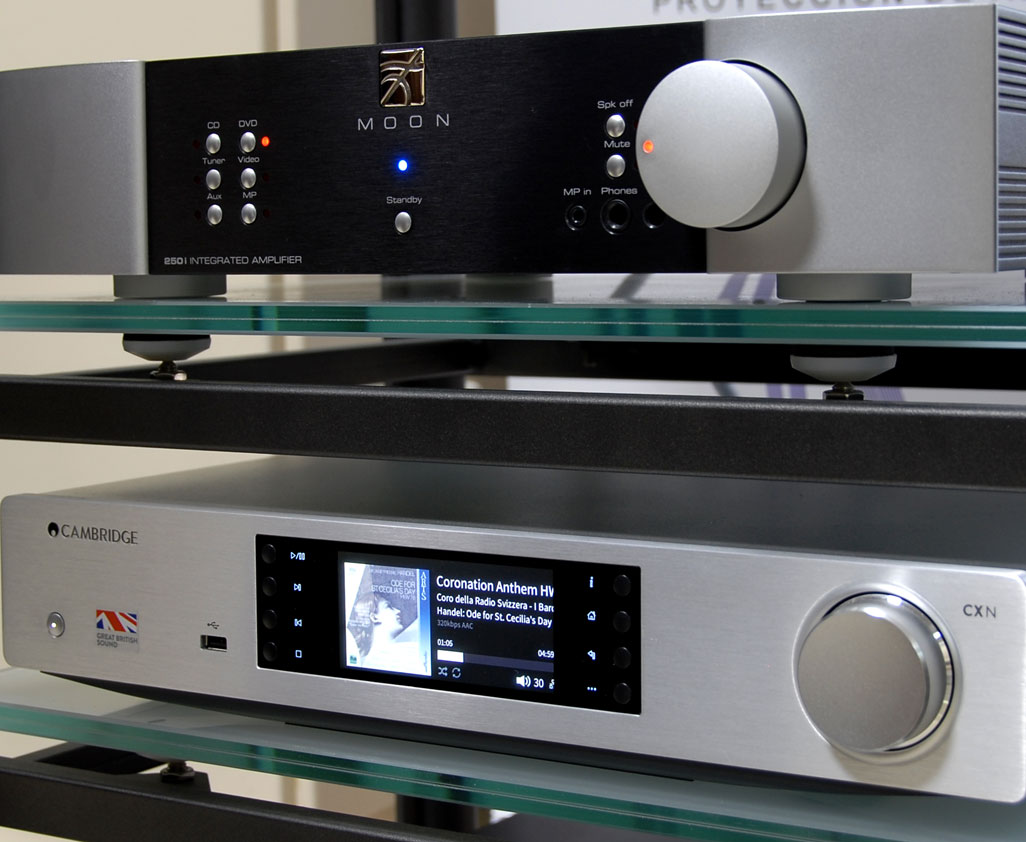 Altavoces Vienna Acoustic Mozart Grand Symphony + Amplificador integrado Moon Neo 250i + Streamer Cambridge Audio CXN